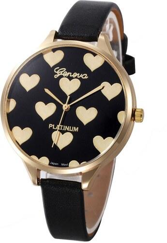 628a3ed35cf Shim Watch Geneva Dívčí hodinky se srdíčky černé - Glami.cz