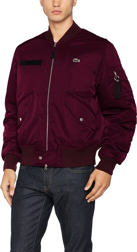 taille Blouson Small Lacoste Rouge L Bh7848 pruneau Homme ve qwx81zf