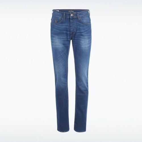 jeans homme regular used bleu elasthanne homme taille 36 bonobo. Black Bedroom Furniture Sets. Home Design Ideas