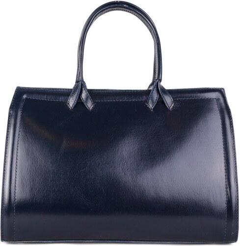 Talianske kožené kabelky veľké biznisové modré Orchidea 39942756098