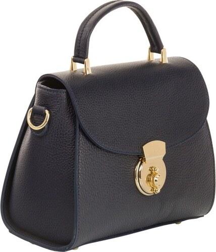 Tmavomodrá kabelka z pravej kože Andrea Cardone Elegant - Glami.sk 510341147eb