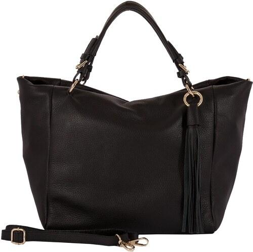 Čierna kabelka z pravej kože Andrea Cardone Star - Glami.sk dbd8969db20