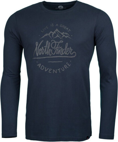 ae067b1b786b NORTHFINDER ENRICO Pánske tričko s dlhým rukávom TR-3262SNW319 šedá ...
