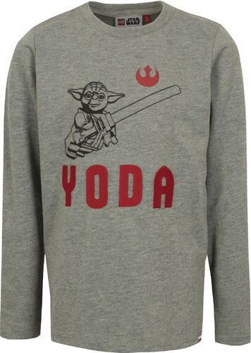d44b9f2901d Tmavě šedé klučičí tričko s potiskem a výšivkou Star Wars Lego Wear ...