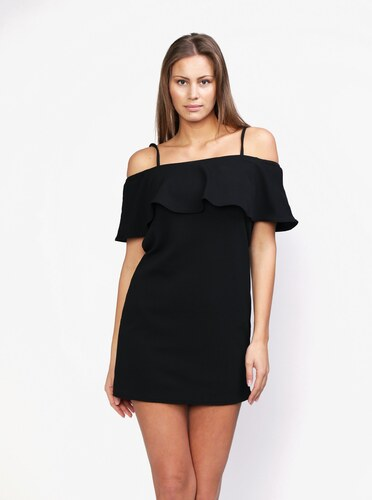Čierne šaty s odhalenými ramenami na ramienka MISSGUIDED - Glami.sk ea94ba2800d