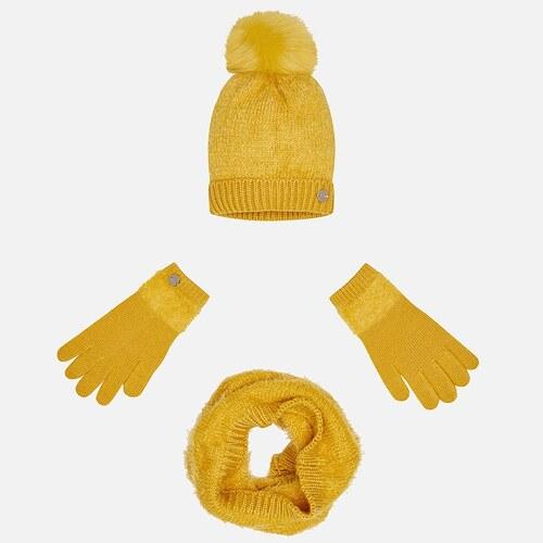 MAYORAL zimný set čiapka + šál + rukavice 10324-049 amber - Glami.sk 9e85936155