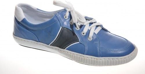 2f24510019ad Kožené chlapčenské topánky RENBUT 43-662 modré - Glami.sk