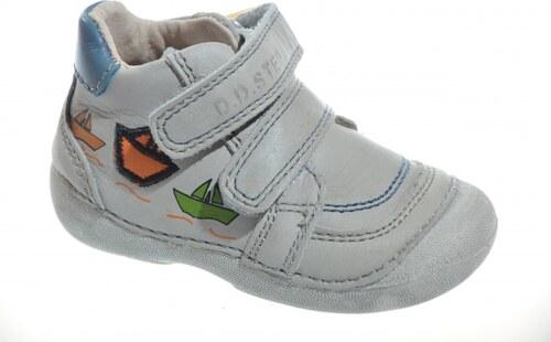 a46ab66fd51 Kožená detská obuv D.D.STEP 015-120BU grey - Glami.sk