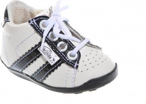 f25165fcbe Detská kožená obuv WANDA bieločierna - Glami.sk