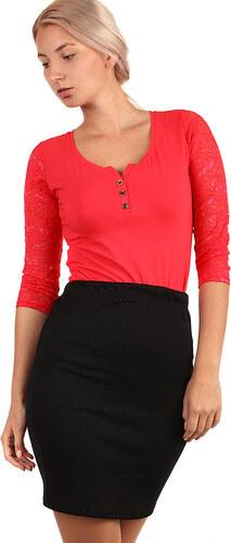 5b5aa56715f YooY Dámská prošívaná business sukně - i pro plnoštíhlé (černá