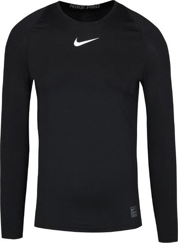 48ce8fa1a87e Čierne pánske kompresné tričko s dlhým rukávom Nike - Glami.sk