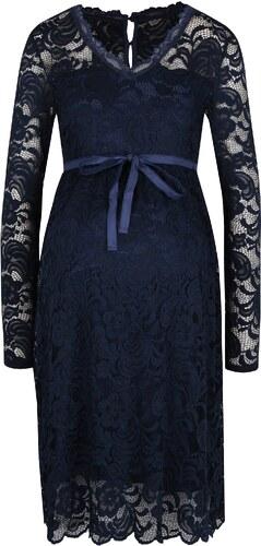 Tmavomodré tehotenské čipkované šaty Mama.licious Mivana - Glami.sk a966162f447