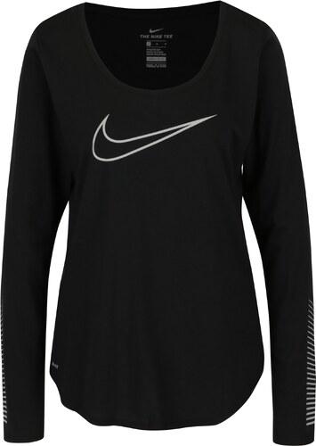 f358404cbaaa Čierne dámske funkčné tričko s dlhým rukávom Nike - Glami.sk