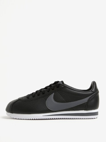 Čierne pánske kožené tenisky Nike Classic Cortez - Glami.sk c1205f98c6a