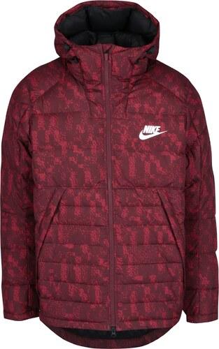 Červená pánska vzorovaná zimná páperová prešívaná bunda Nike - Glami.sk 9de0bb1e64c