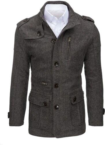 464116ee01 Elegáns szürkés barna szövet kabát vékony - Glami.hu