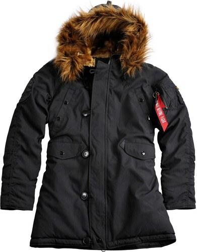 Dámska čierna zimná bunda Alpha Industries Explorer - Glami.sk 3aa32dd9e32