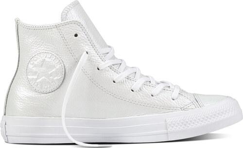 Converse bílé perleťové kožené tenisky Chuck Taylor All Star - 40 ... f3db81f484