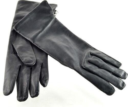 399c4a8a994 Napa Dobříš Dlouhé dámské kožené rukavice - černé - Glami.cz