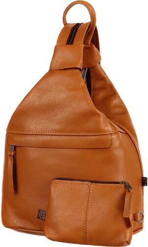 YooY Batoh kabelka 3v1 z pravé kůže - malý - Česká výroba (zrzavá ... 05f1ef14d2