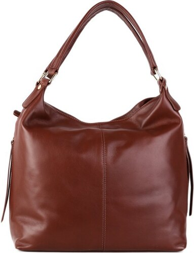 Talianske kožené luxusné kabelky cez rameno hnedé Florena - Glami.sk 3f65c858316
