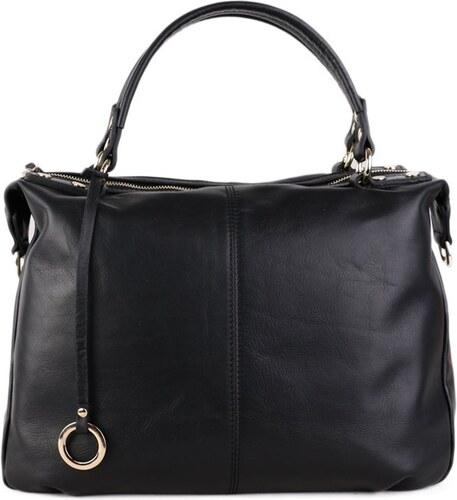 Talianske kožené luxusné kabelky cez plece čierne Edviga - Glami.sk ec0c013b7c5