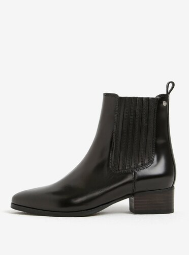 fbe96e36492e Čierne dámske kožené chelsea topánky GANT Linn - Glami.sk