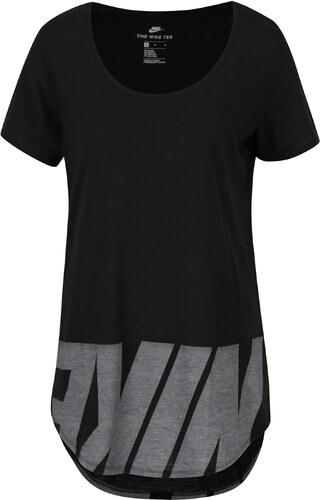 Černé dámské volné tričko s potiskem Nike - Glami.cz 57793cec43