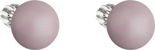 EVOLUTION GROUP Strieborné náušnice kôstka s perlou Swarovski ružové okrúhle  31142.3 pastel rose c7dff0bba4e