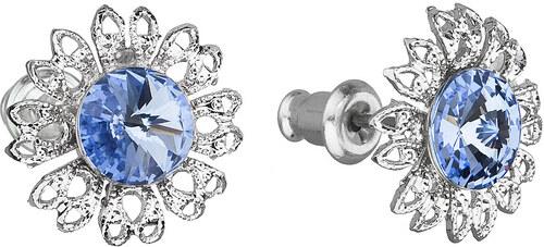 4ce837753 EVOLUTION GROUP Náušnice bižutéria so Swarovski kryštálmi modrý kvietok  51042.3 light sapphire