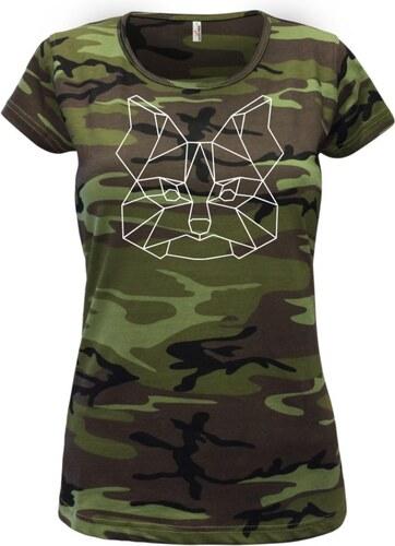 e1c691d123d3 Myshirt.cz Jorkšírský teriér - Geometrie - Dámské maskáčové triko ...