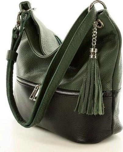 655238fe697 Dámska čierno-zelená kabelka s dlhou rukoväťou MAZZINI (s123l ...
