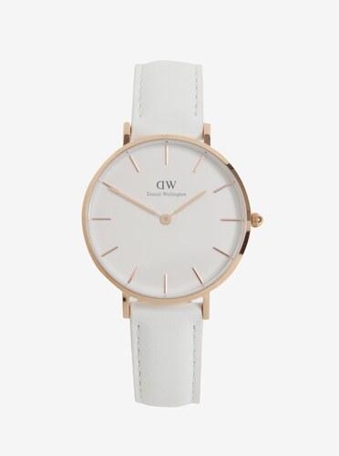 Dámské hodinky v růžovozlaté barvě s koženým páskem Daniel Wellington 1e92690568