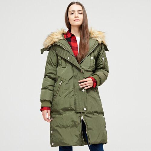Cropp - Športový zateplený kabát - Zelená - Glami.sk 6fc4eff756d