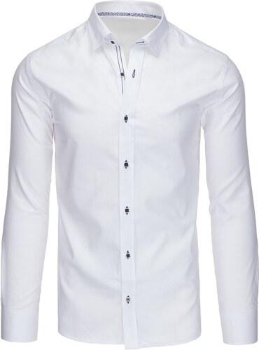 73cd8095930e Štýlová biela pánska košeľa - Glami.sk