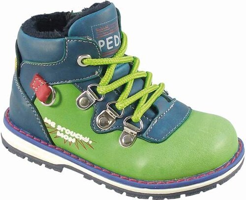 4701be7212628 Peddy Chlapčenské zateplené členkové topánky - zeleno-modré - Glami.sk