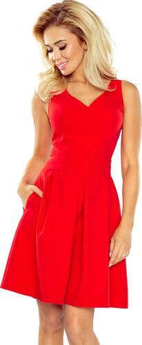 NUMOCO Červené šaty s vreckami 160-3 - Glami.sk de47588b879