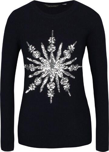4b01433e8bed Tmavomodrý sveter s flitrami Dorothy Perkins