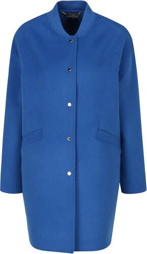 Modrý dámský lehký vlněný kabát Tommy Hilfiger - Glami.cz 2031b316b7c