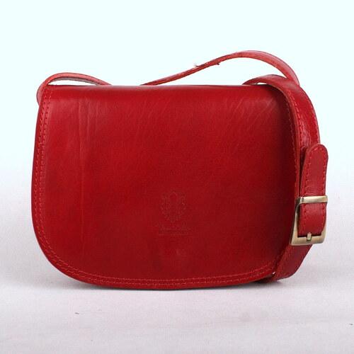 Vera Pelle Dámská kožená crossbody kabelka no. 46 tmavěčervená ... 5969620cf25