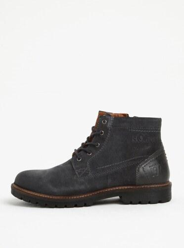 Tmavě šedé pánské semišové kotníkové boty s.Oliver - Glami.cz fdc21ffc35
