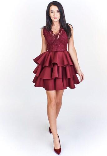 560813553dc4 Elegantné šaty s volánovou sukňou BICOTONE - Glami.sk