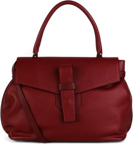 ITALSKÉ Kožená kabelka do ruky Italská červená Rina 238104e720f