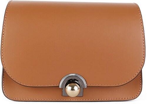 ITALSKÉ Kožená kabelka luxusní crossbody Italská hnědá Elisa 417bd602486