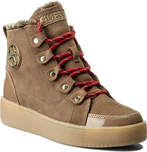 c08f72579a553 Sneakersy GUESS - Dina FLDIN4 SUE12 BROWN - Glami.sk