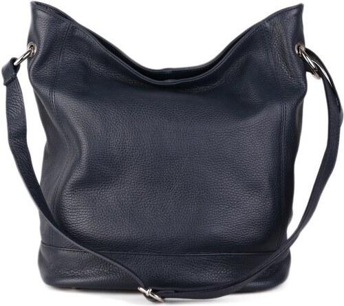 ITALSKÉ Kožené kabelky přes rameno z Itálie silně modré Morena ... 22189957f2