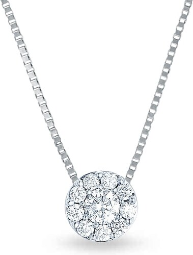 f53daede8 Diamantový náhrdelník v bílém zlatě KLENOTA je3249 - Glami.cz
