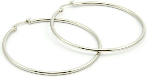 JewelsHall Náušnice z chirurgické oceli kruhy - velké - Glami.cz 6c40b89bbf9