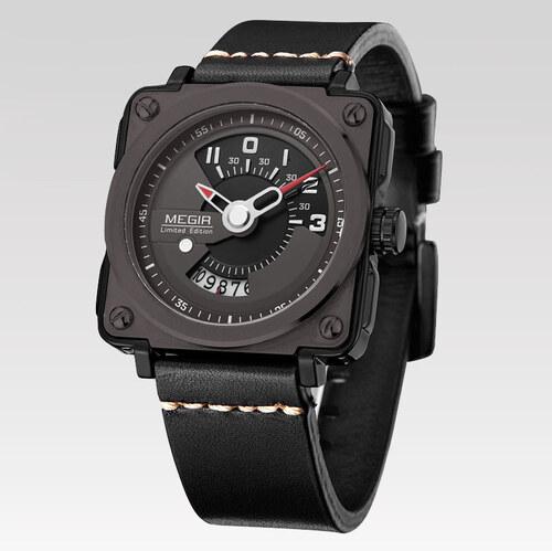 Megir Pánske hranaté hodinky Limited čierne - Glami.sk d0140b3ca53