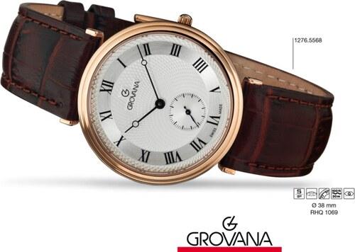 Luxusní retro švýcarské značkové hodinky Grovana TRADITIONAL 1276.5568  POŠTOVNÉ ZDARMA! 4193ac9ebb
